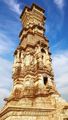 On the photo: Victory tower.Cittorgarh Fort, India