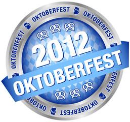 "Button Banner ""2012 Oktoberfest"" blau/silber"