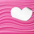White paper hearts on pink abstract background. vector