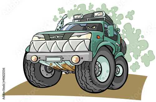 Cartoon Off road Vehicle.