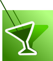 Аbstract image of absinthe. Vector