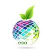 Colorful fruit ecology, vector