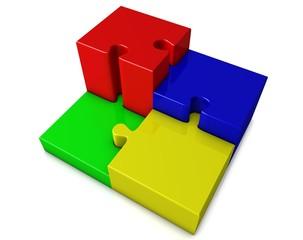 Puzzle_bunt als Treppe
