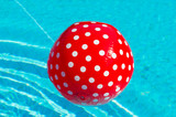 Red ball with white spots