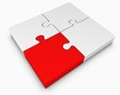 Puzzleteil rot
