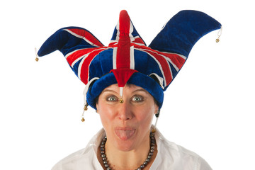 Funny British girl with typical hat