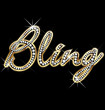 Bling bling shiny word vector
