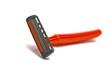 single orange razor blades