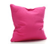 bright pink pillow isolated on white