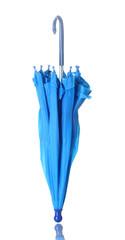 Blue umbrella isolated on white