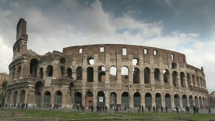 Time-lapse of Colosseum, Rome, Italy