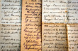 old handwritten letters on old paper