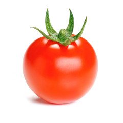 Tomato isolated on white background.