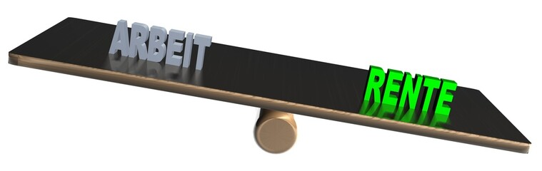 3D Waage2 - ARBEIT - RENTE