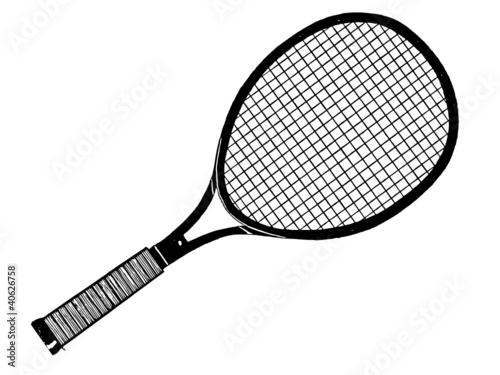Raquette de tennis fichier vectoriel libre de droits sur - Comment choisir sa raquette de tennis de table ...