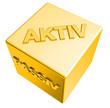 3D Goldwürfel - AKTIV - PASSIV