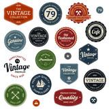 Fototapety Vintage labels