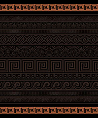 Seamless Greek Ornamental borders
