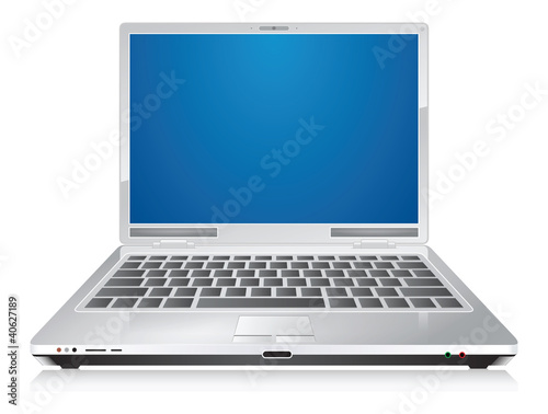 Laptop, vector illustration - 40627189