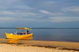 "gelbes Boor vor der Rio Negro Brücke ""Manaus – Iranduba"""