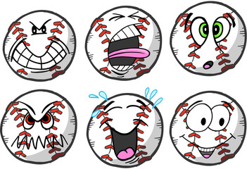 Baseball emotion Sports Icon Vector Illustration