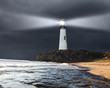Leinwanddruck Bild - Collage with lighthouse