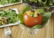 Tomato Stuffed with Quinoa Salad