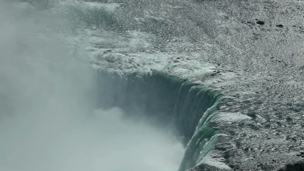 Canadian horseshoe Niagara falls from above