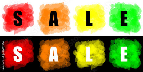 set of vector colorful paint splat for commerce sale concept