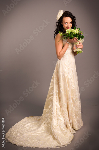 Portrait of a beautiful happy bride