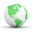3D green Globe.