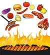 Grillparty mit Lebensmittel