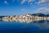 Fototapety Marmaris city and fortress view from sea