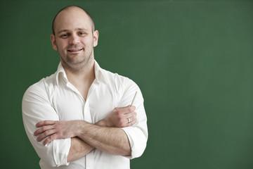 Teacher on the blackboard