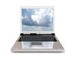 Laptop with sky screen