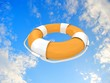 Lifebuoy ring flying to help