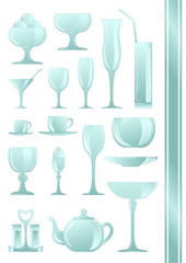 Collection of icons for coffee shop. Set. 2