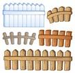 Cartoon fences collection