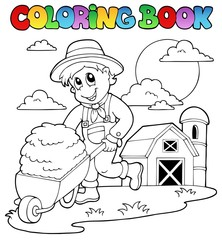 Coloring book farm theme 3
