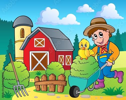 Foto op Canvas Boerderij Farm theme image 7