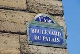 panneau boulevard du palais, paris poster