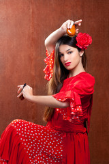 Castanets gipsy flamenco dancer Spain girl