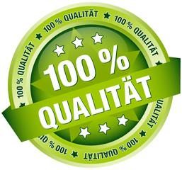 """Button Banner """"100 % Qualität"""" grün"""