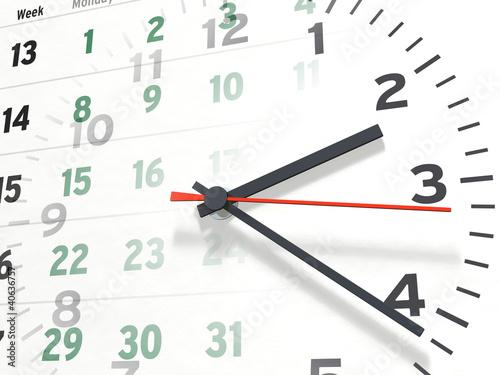 Kalender und Uhr