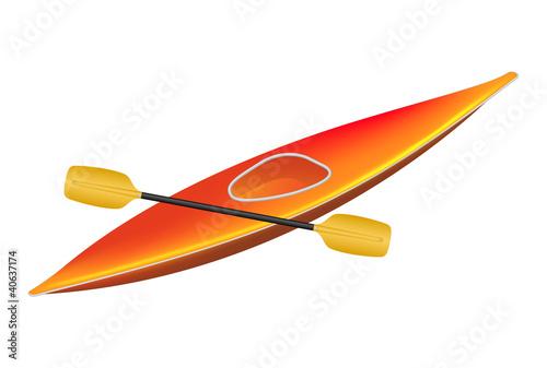 Kayak with paddle