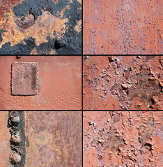 a rust metal texture and rivet