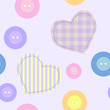 Background with hearts and buttons