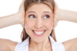 Young Woman Covering Ears