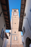 The belltower of the duom of San Daniele, Friuli, Italy poster