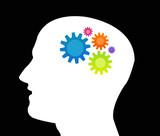 cerveau - engrenage - idée et imagination poster
